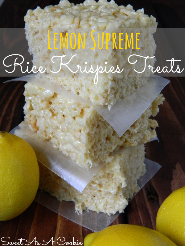 Lemon Supreme Rice Krispies Treats